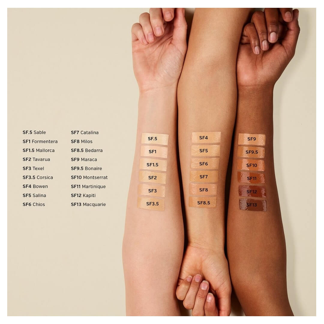 ILIA BEAUTY True Skin Serum Foundation - SoBio Beauty Boutique Swatches