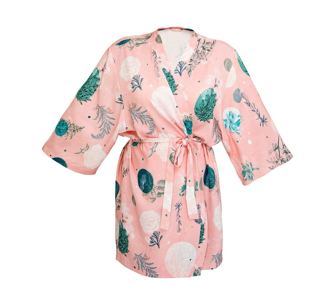 LULLALOVE Kimono Bambusowe Rose Garden | SoBio Beauty Boutique