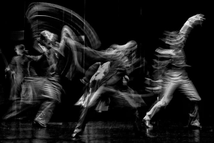 from Puja Louise Brown - black and white figures dancing