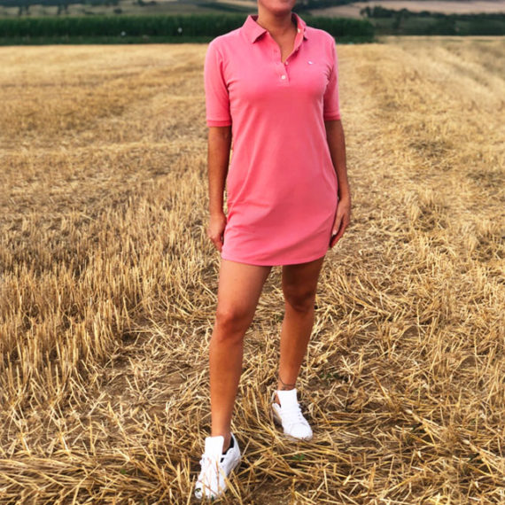 Robe Polo rose sobo, écoresponsable et made in France