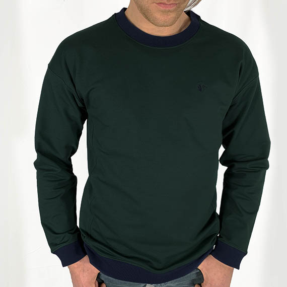 Sweat vert Renaissance, ecoresponsable made in France SOBO