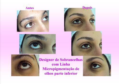Designer de Sobrancelhas com Linha e Micropigmentação de Olhos