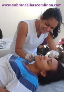 alunas depilação com linha