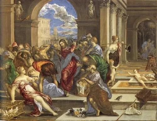 El Greco  La purificacin del templo  SobreHistoriacom