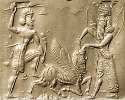 Gilgamesh y Enkidu