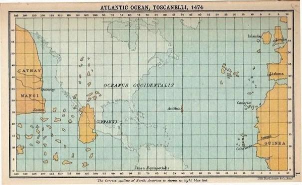 La Idea de Colón, llegar a Las Indias por el Oeste
