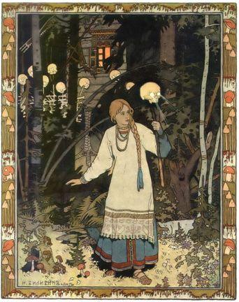 Vasilisa cerca de la izbushka