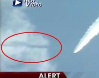 El supuesto Ovni atraviesa una nube durante una prueba de un misil iraní parece ser una sombra