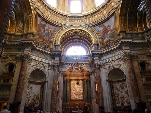 iglesia de santa ines interior