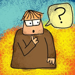 image of man with question mark speech balloon