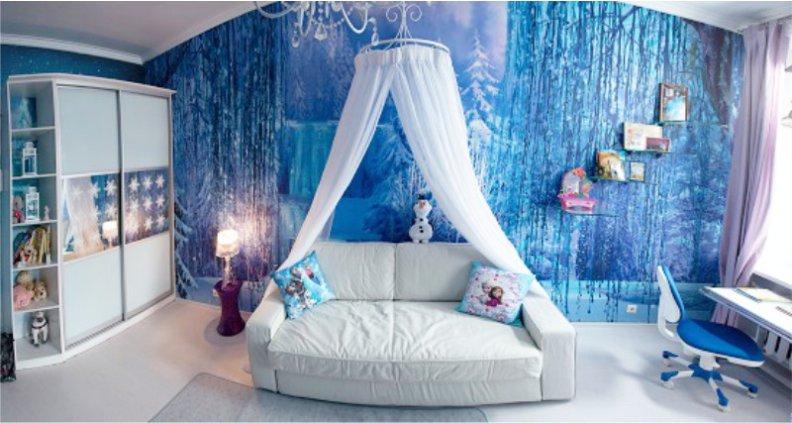 Cette chambre La Reine des Neiges est tellement belle quelle va faire rver votre petite fille