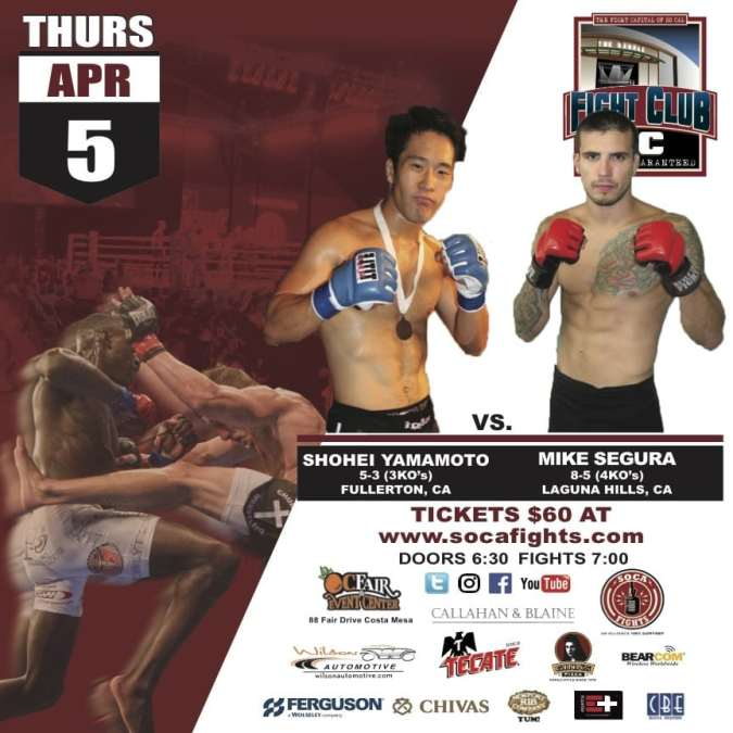 Fight Club OC April 5th MMA Fights Are Locked & Loaded