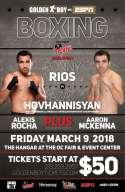 Rios vs. Hovhannisyan At Hangar March 9th