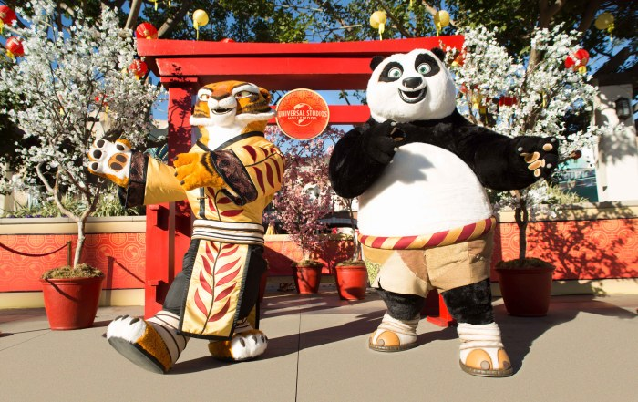 Tigress and Po-Lunar New Year 2018 at USH