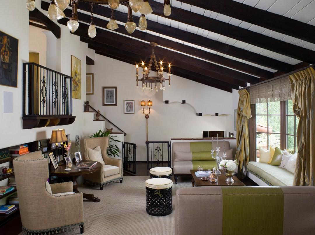 Ceiling beams in Spanish home in Los Angeles