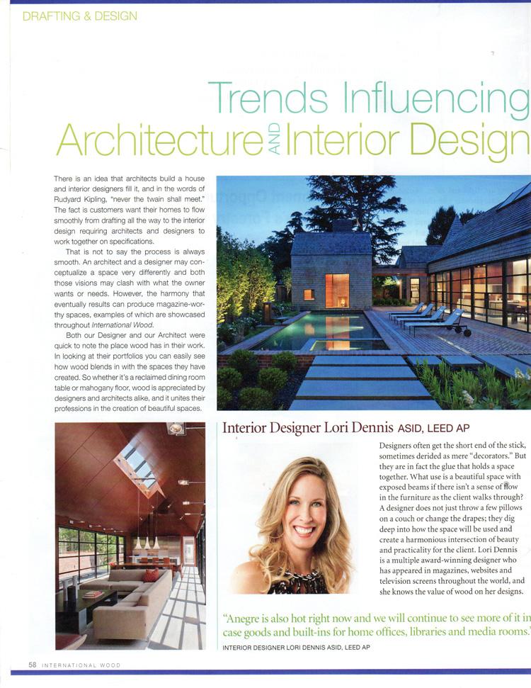 Celebrity Los Angeles Interior Designer Lori Dennis International Wood
