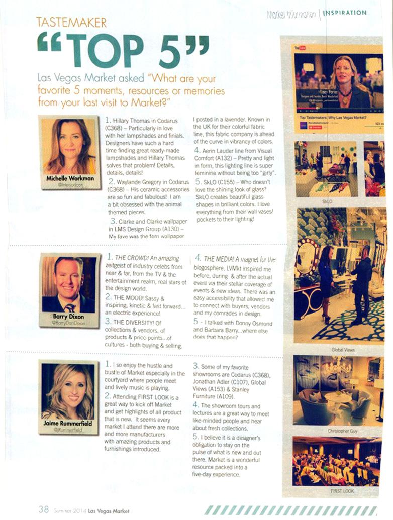 Las Vegas Market Preview Magazine Interior Design Camp Summer 2014