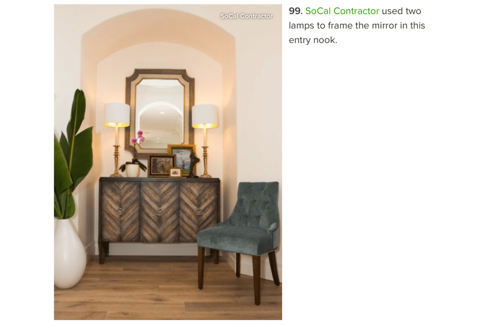 Socal contractor best entryway mirrors featured on houzz