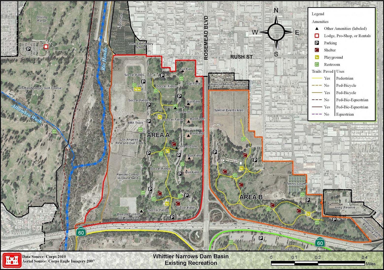Map Whittier Ca Area