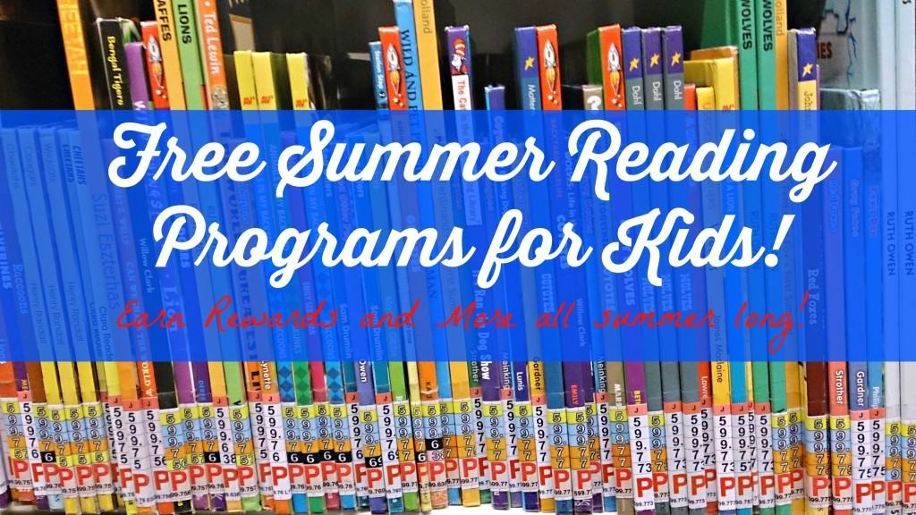 Free Summer Reading Programs for Kids including Barnes & Noble, Pottery Barn, Sylvan Learning Center and Pizza Hut.