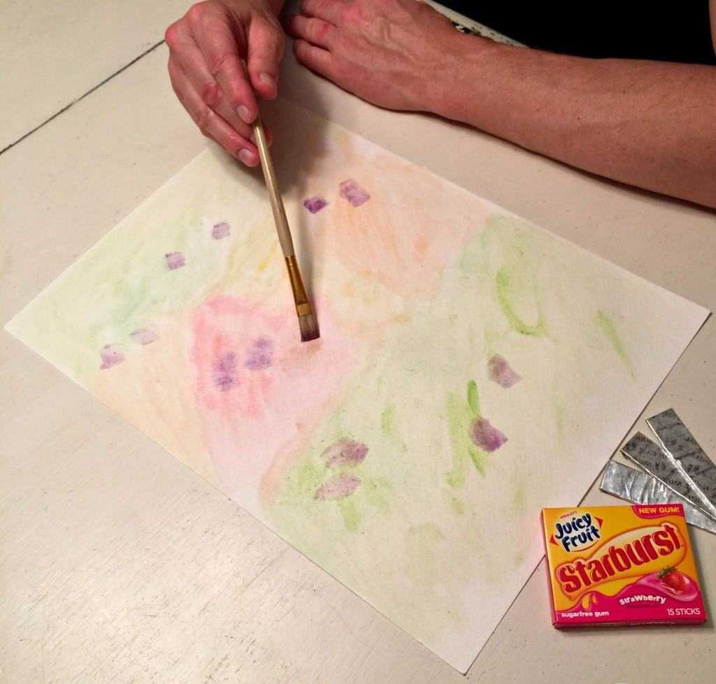 Craft skittles watercolor paint step by step tutorial for Watercolor tutorials step by step