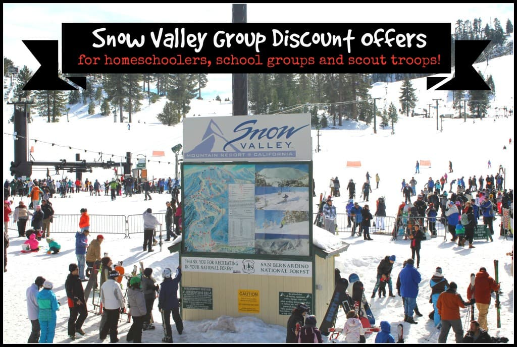 Snow Valley Mountain Resort offers group discounts for homeschoolers, school groups and scout troops