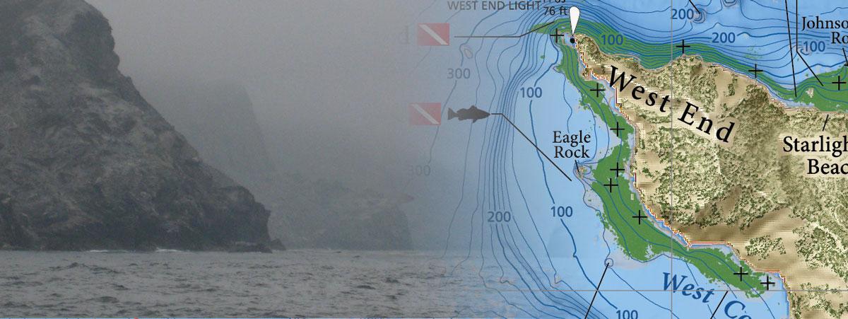 Detailed fishing maps of Catalina Island