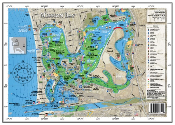 Mission Bay Fishing and Boating Map