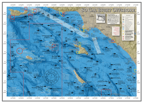 So Cal Bight Offshore Fishing Map