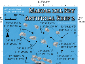 Artificial reef maps with GPS
