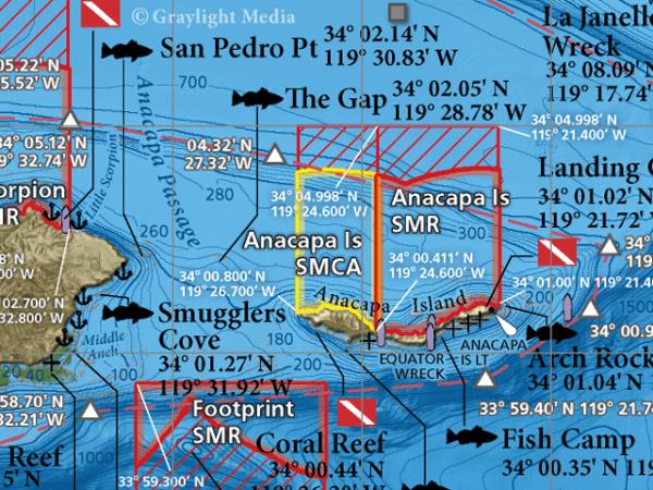 Santa Barbara Channel map close-up