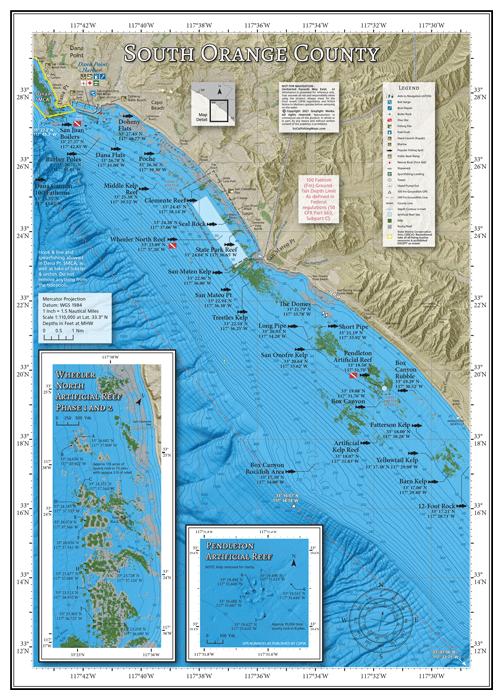 South Orange County Fishing Map