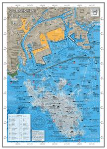 Fishing map of the Horseshoe Kelp offshore Los Angeles, California