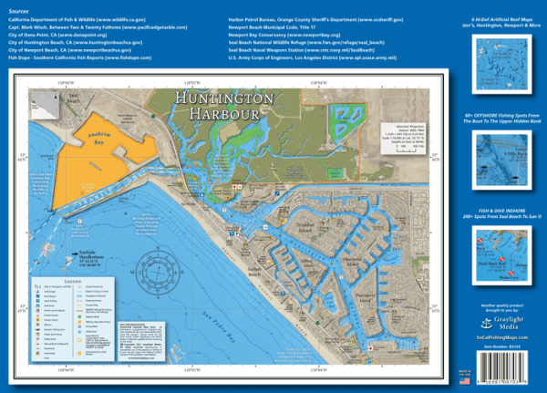 Huntington Harbour Boating Map