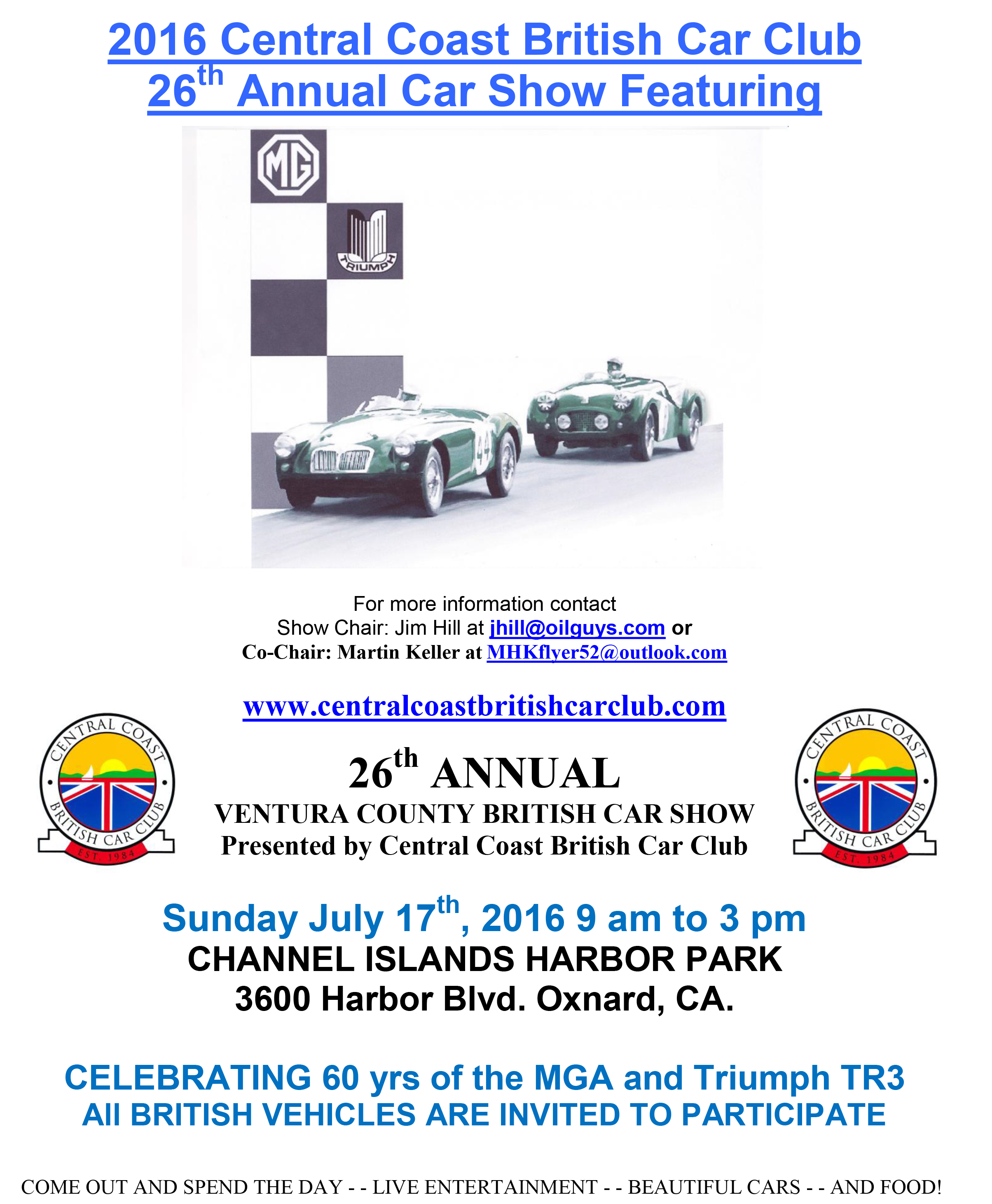 Sunday July Central Coast British Car Clubs British Car Show - Keller car show