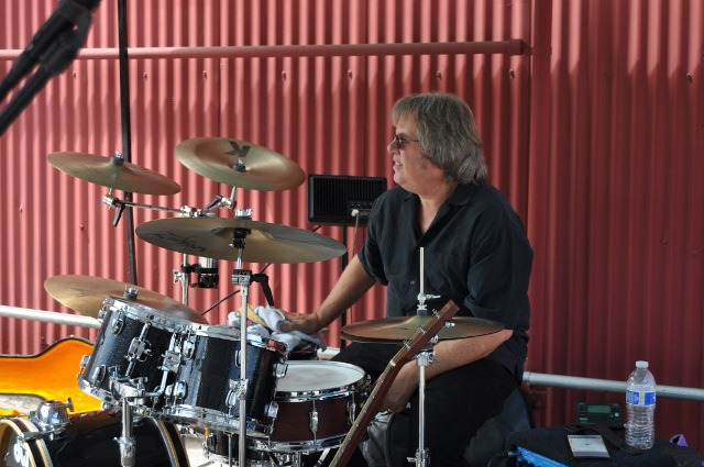 The Drummer of the Band at 2014 Boots and Bonnets Car Show at ADM