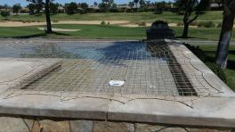 beige pool safe net in san diego