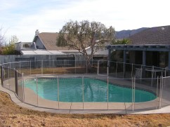 removable pool fencing around pool