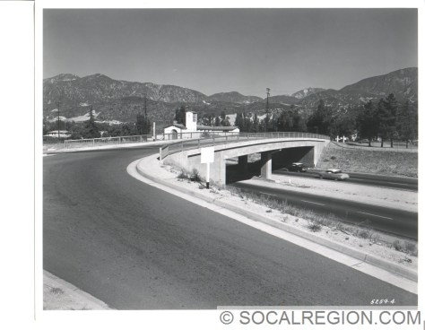 View over the Michigan Ave OC. This is now the location of a pedestrian bridge over the 210.
