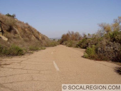 Section of alignment along the north shore of Lake Hodges.