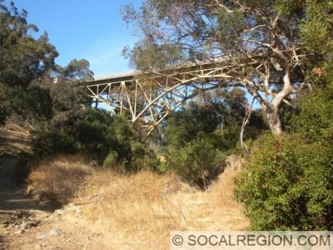 1st Ave Bridge and trail below.