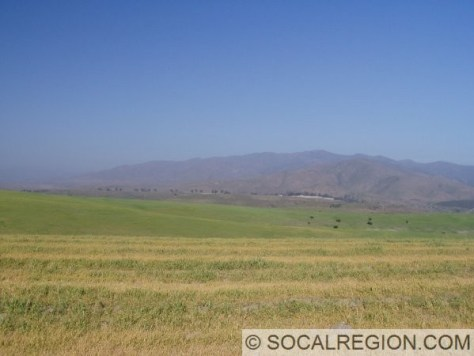 View of Otay Mountain from the hills in the south part of the old Otay Ranch.