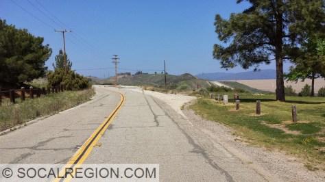 Original junction with Lake Hughes Road (Elizabeth Lake Canyon Road).
