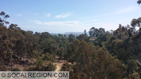 Maple Canyon and Point Loma from the 1st Ave bridge in Bankers Hill.