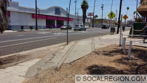 Last remaining track from the former UP Pasadena Branch on York Blvd just east of Figueroa St.