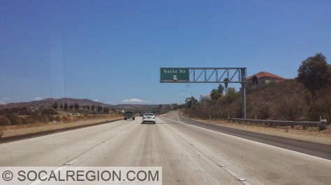 The freeway ended here at Santo Road from 1988 until 1993.