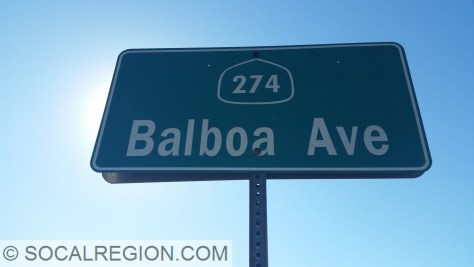 City signage for former State 274 in the Clairemont area of San Diego.