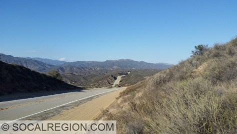 Looking northerly along Lake Hughes Road. This section was built to bypass Castaic Lake in the late 1960's.