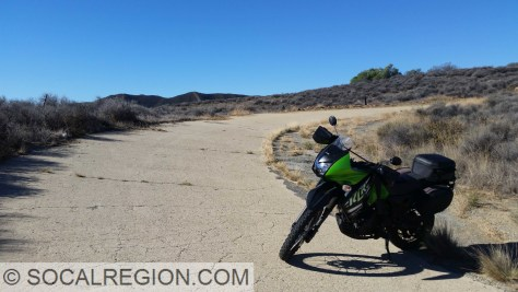 My 2014 Kawasaki KLR 650 and the Ridge Route near Martins.