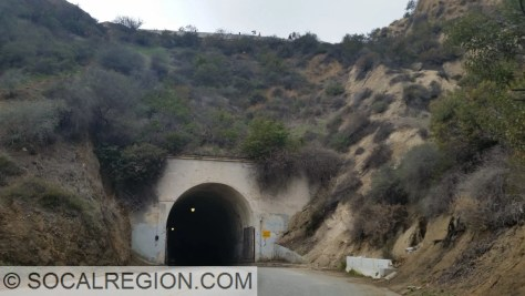 Eastern portal of the Vermont Canyon Road tunnel.